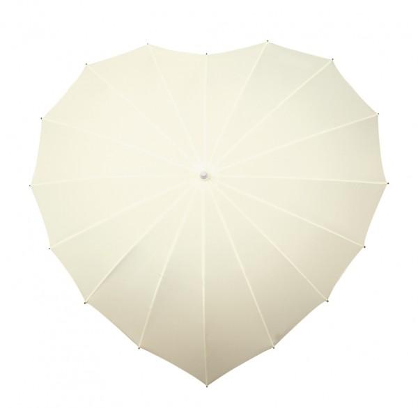Motive umbrella Heart, ecru