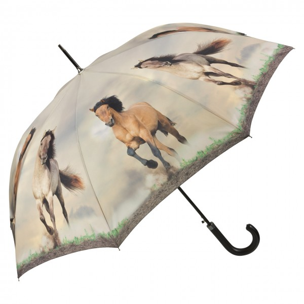 Umbrella Automatic Motif Wild Horses