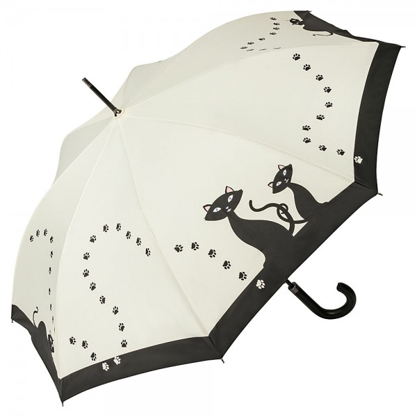 Umbrella Automatic Motif Black Cats