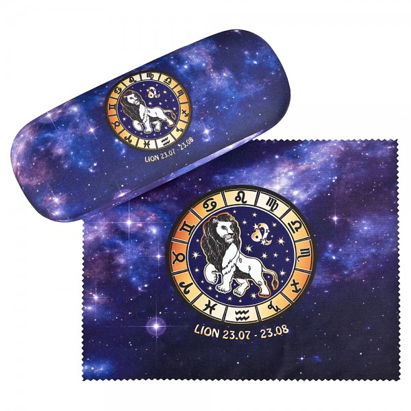 Glasses case Sign of Zodiac Leo