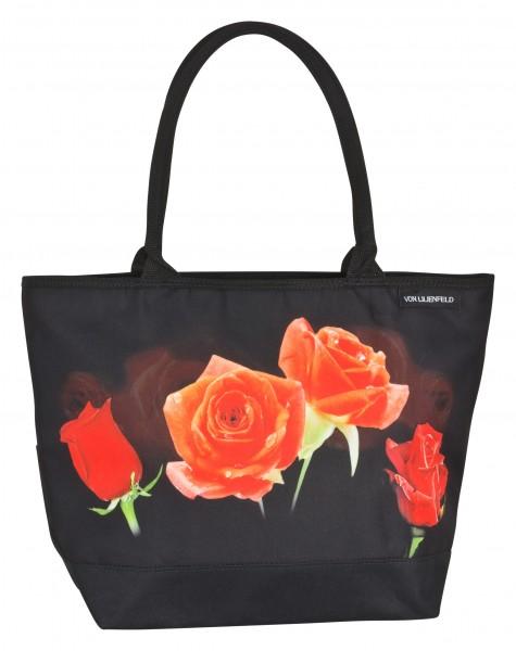 Tasche Shopper bedruckt Blumen Motiv Rosenbouquet
