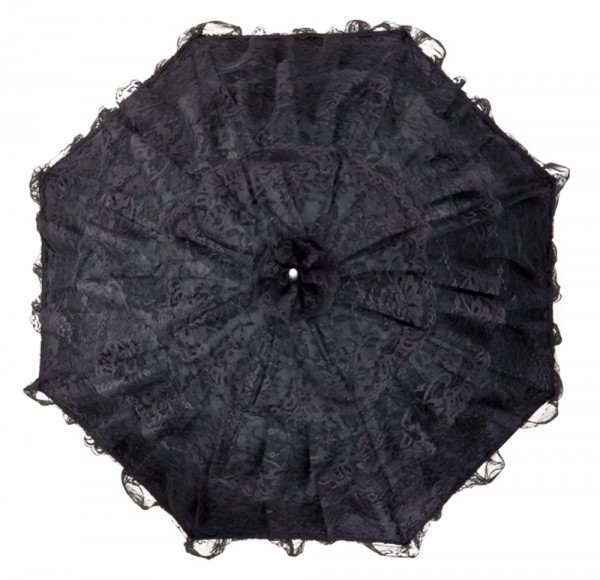 "Bridal umbrella ""Melissa"", black"