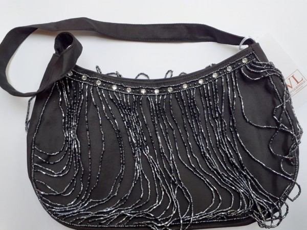 Handbag Pearlstrings black
