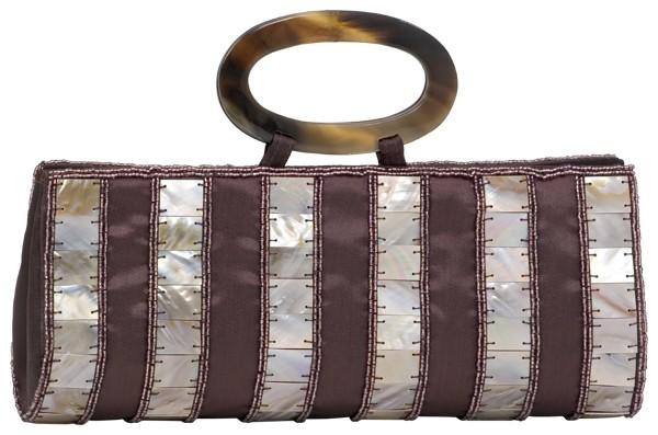 Handbag brown Satin