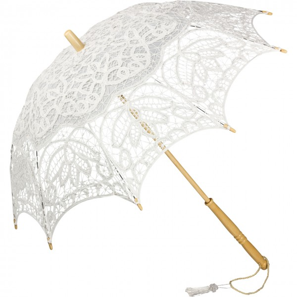 "Lace umbrella ""Vivienne"", white"