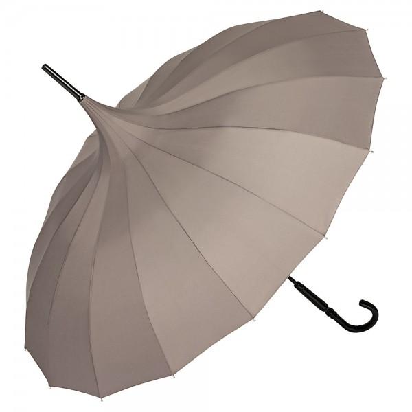 """Regenschirm Sonnenschirm Pagode """"Charlotte"""", grau"""