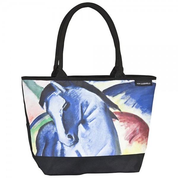 Tasche Shopper bedruckt Kunst Motiv Franz Marc: Blaues Pferd