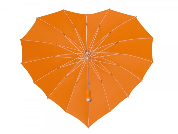 Motive umbrella Heart orange