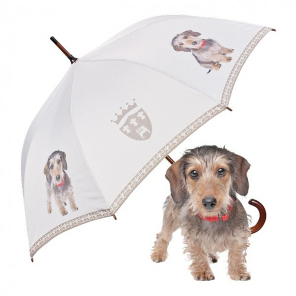 Umbrella Automatic Motif Wire-Haired Dachshund