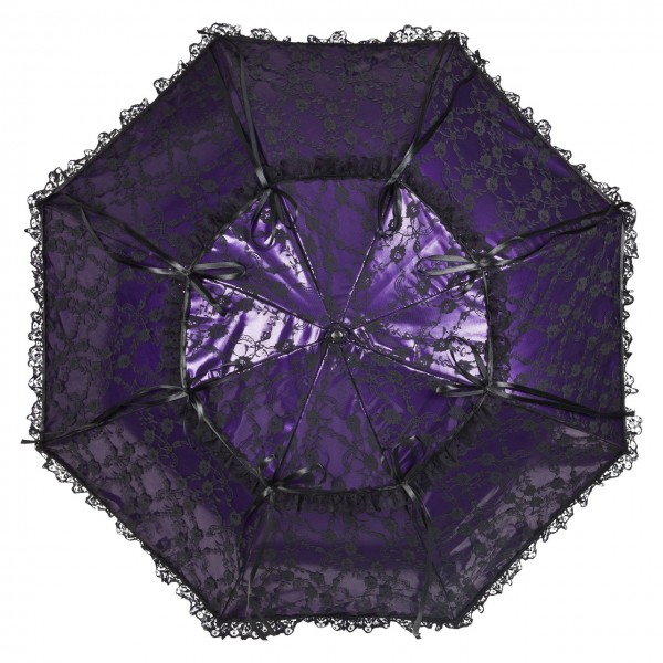 Lace umbrella Luna purple