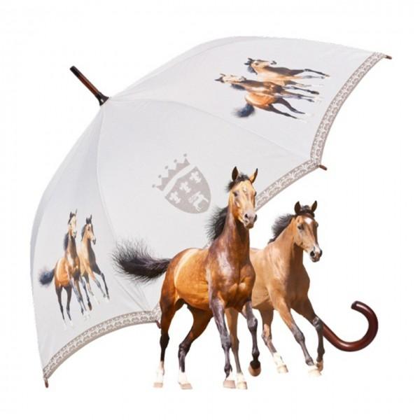 """Motivschirm Automatik """"Zwei braune Pferde"""""""
