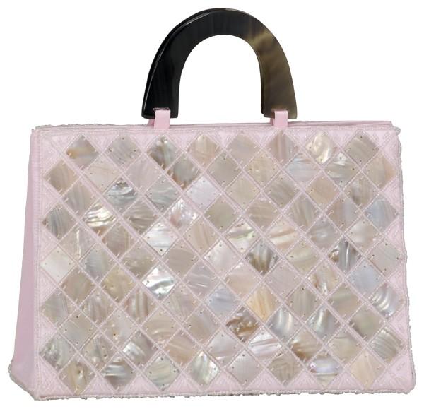 Abendhandtasche Handtasche Satin Permutt rosa