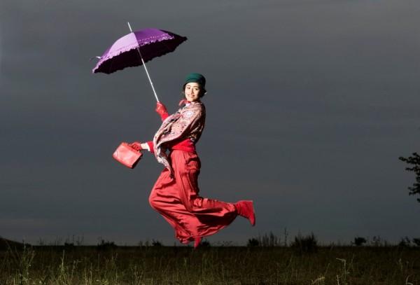 "Regenschirm Sonnenschirm Automatikschirm ""Mary"", Leopard"