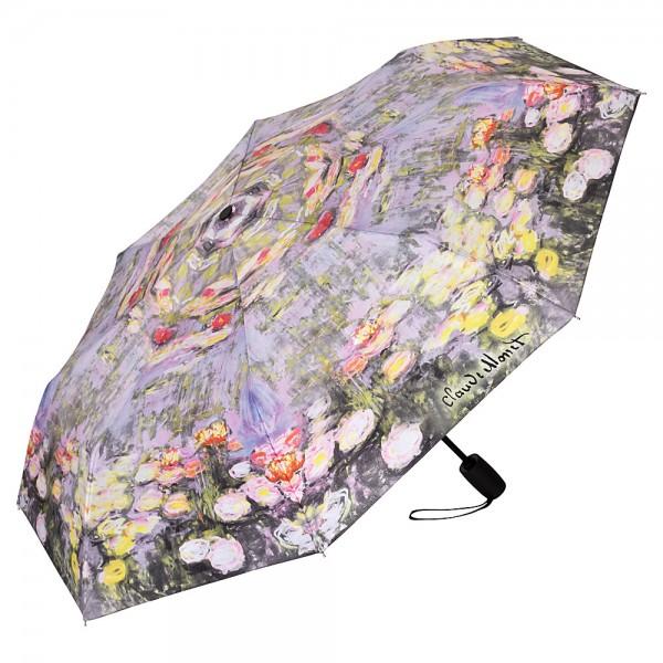 Taschenschirm Motiv Kunst Claude Monet: Seerosen Auf-und-Zu Automatik