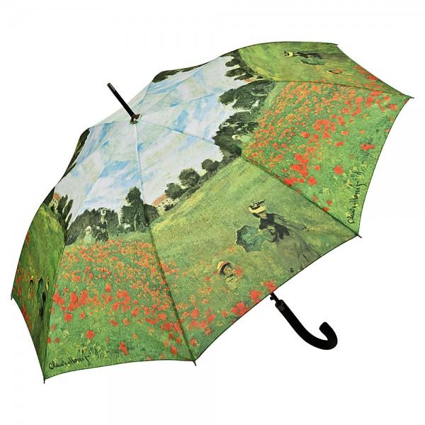 Regenschirm Kunstmotiv Automatik Claude Monet: Mohnblumenfeld