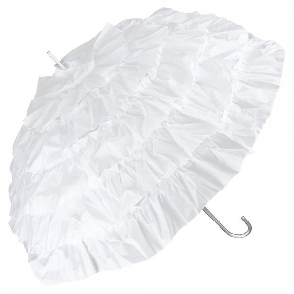 """Regenschirm Sonnenschirm Brautschirm Hochzeitsschirm """"Mia"""", weiß"""