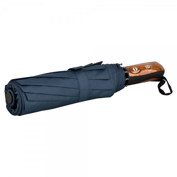 Folding pocket umbrella auto-open-close Clark blue