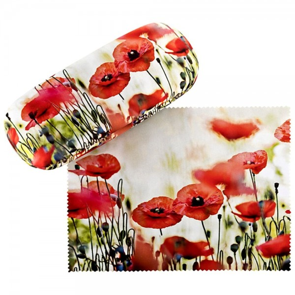 Glasses case Poppies