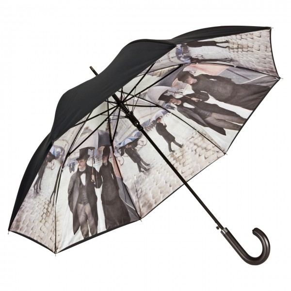 Umbrella Automatic Motif Art Gustave Caillebotte: Rainy Paris, Double Layer