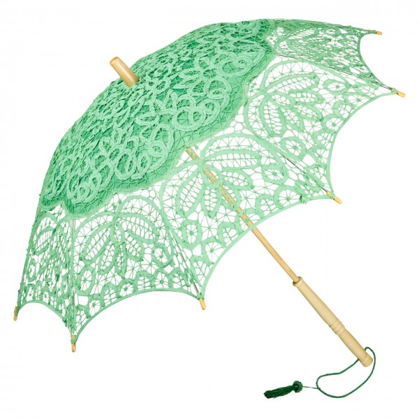 "Lace umbrella ""Vivienne"", green"