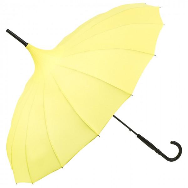 "Regenschirm Pagode ""Cécile"", gelb"