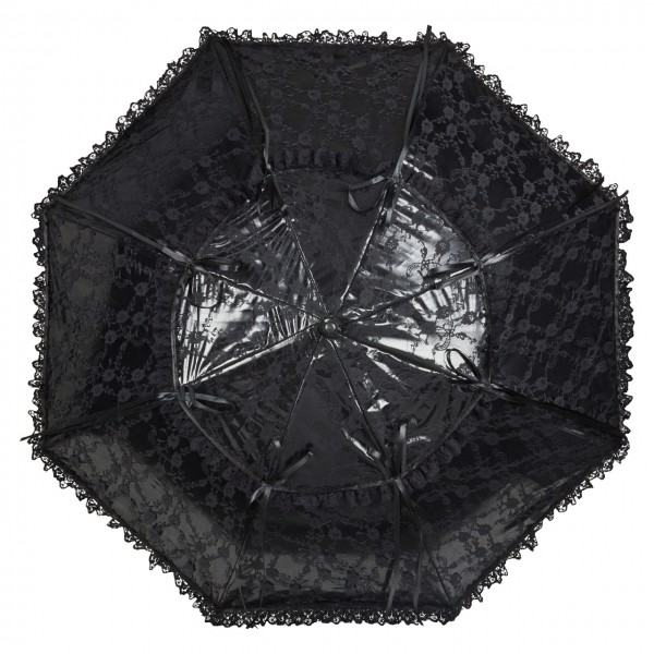 "Lace umbrella ""Luna"", black"