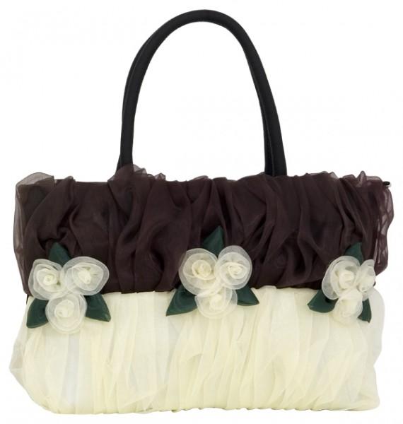Abendhandtasche Handtasche zweifarbig