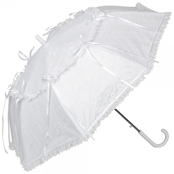"Lace umbrella ""Luna"", white"