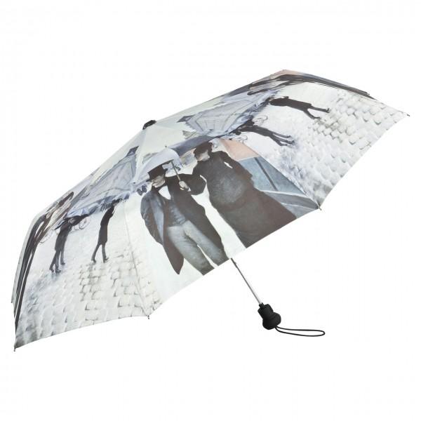 Folding Pocket Umbrella Automatic Telescopic Gustave Caillebotte: Rainy Paris