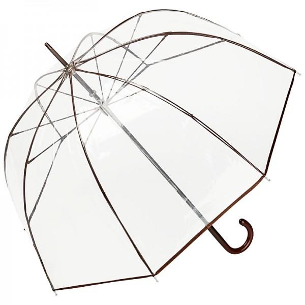 "Regenschirm transparent ""Melina"", braun"