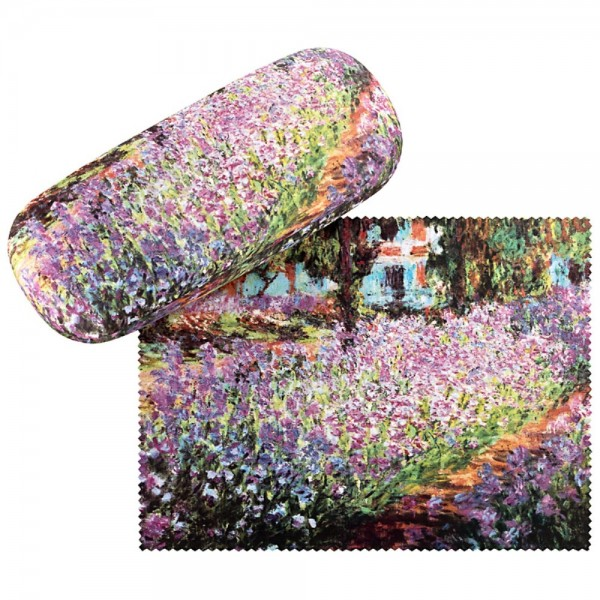 Glasses case with cleaning cloth Claude Monet: The Garden