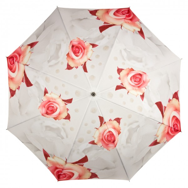 Umbrella Automatic Motif Roses creme