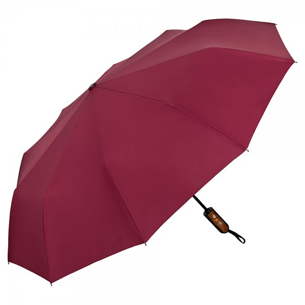 Folding pocket umbrella auto-open-close Clark burgundy