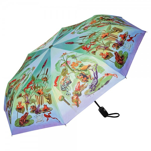 Folding pocket umbrella auto-open-close telescopic Frog Family