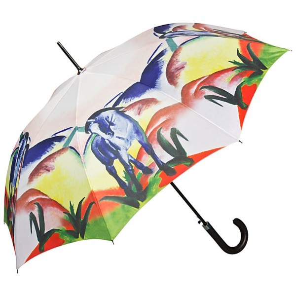 Umbrella Automatic Motif Franz Marc: Blue Horse