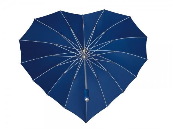 Regenschirm Sonnenschirm Hochzeitsschirm Herz dunkelblau