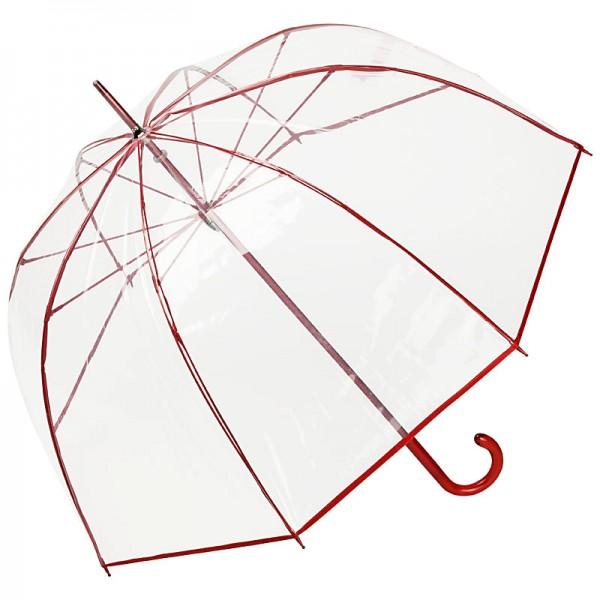 "Regenschirm transparent ""Melina"", rot"