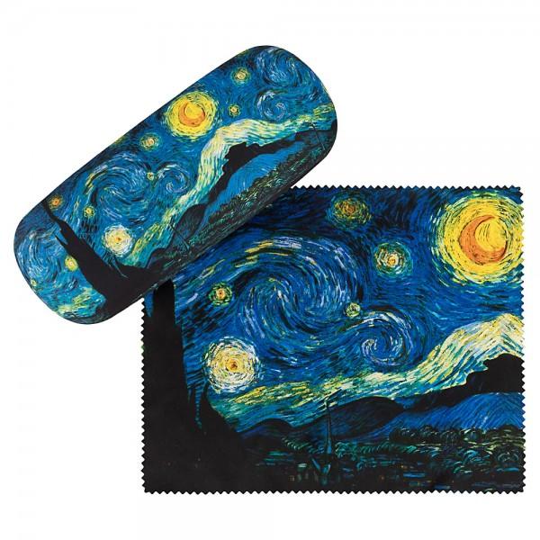 Brillenetui Set mit Putztuch Vincent van Gogh: Sternennacht