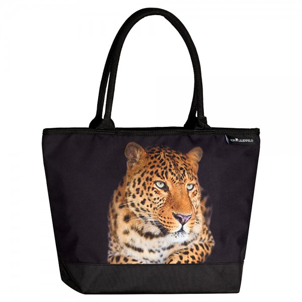 Tote Bag Shopping Animal Motif Leopard