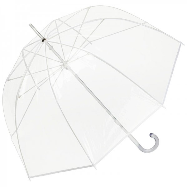 "Umbrella transparent ""Melina"" white"