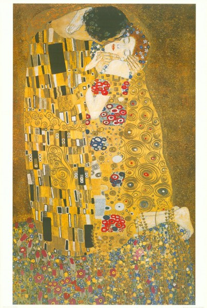 Folding Pocket Umbrella Auto-open-close Telescopic Gustav Klimt: The Kiss