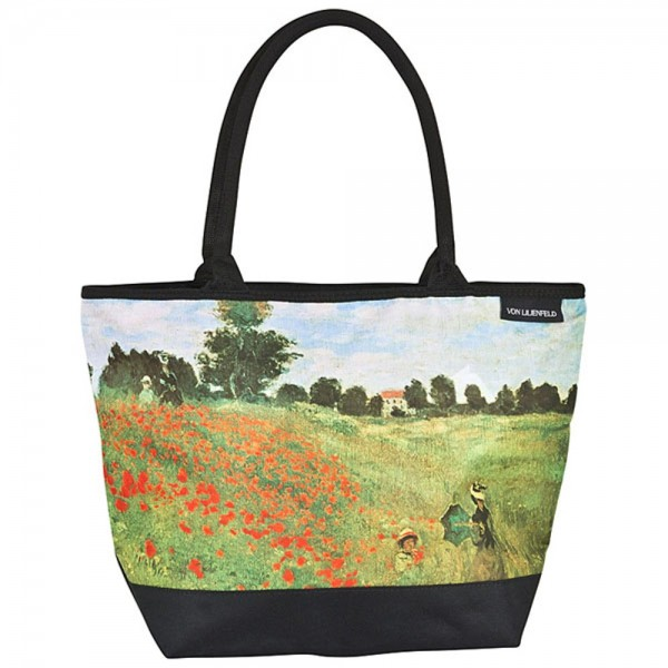 Tote Bag Shopping Art Claude Monet: Field of poppies