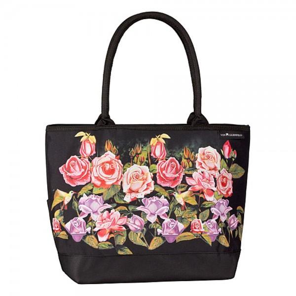 Tasche Shopper Blumen Motiv Rosengarten