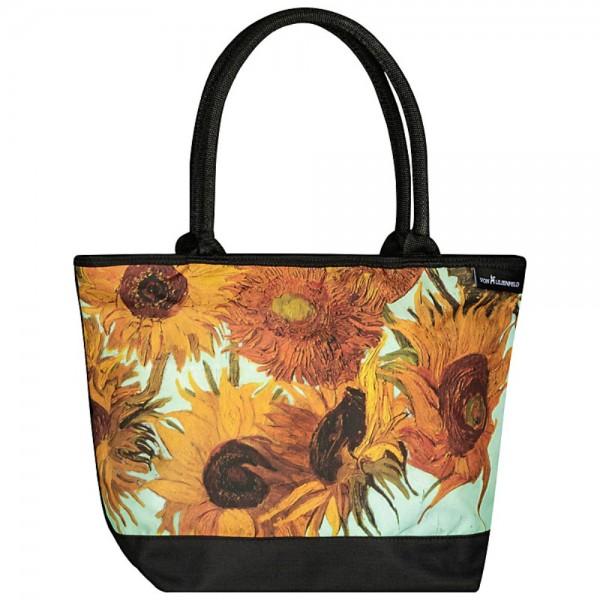 Tasche Shopper Kunst Motiv Vincent van Gogh: Sonnenblumen