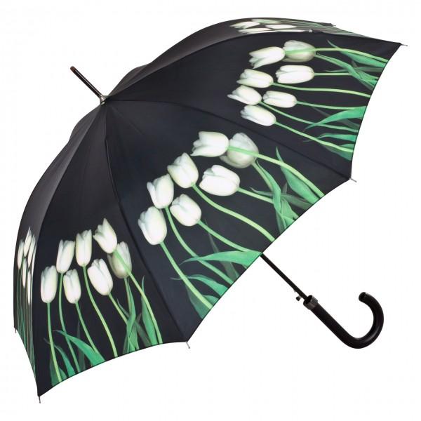 Regenschirm Automatik Harold Feinstein: Weiße Tulpen