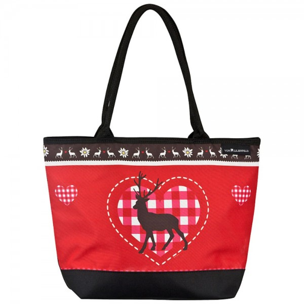 Tote Bag Shopping Deer and Heart